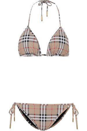 Burberry Bikini de triángulo Vintage Check