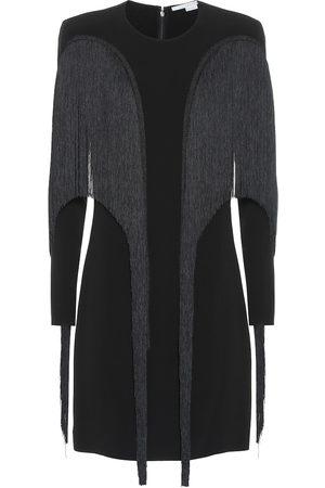 Stella McCartney Vestido corto de crepé con flecos
