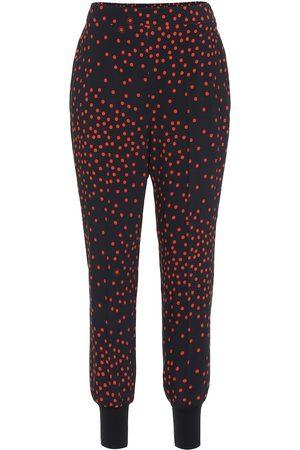 Stella McCartney Pantalones skinny de crepé de lunares