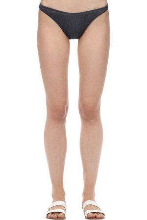 Solid Mujer Bikinis - Vanessa Denim Bikini Bottoms