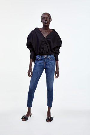 Zara Jeans z1975 mid rise skinny cremalleras