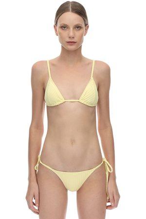 "Peony Mujer Bikinis - Sostén De Bikini ""banana"" Acanalado"