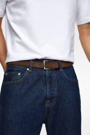 Zara Hombre Cinturones - Cinturón serraje