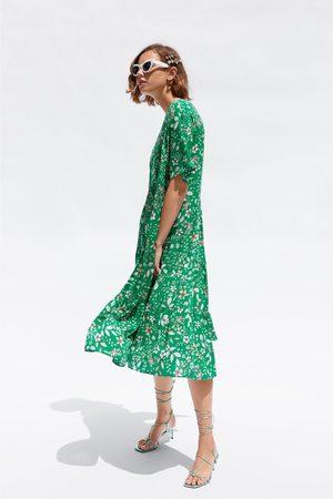 Zara Mujer Estampados - Vestido midi estampado floral