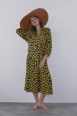 Zara Mujer Largos - Vestido largo estampado floral