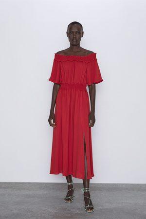 Zara Mujer Vestidos - Vestido hombros descubiertos