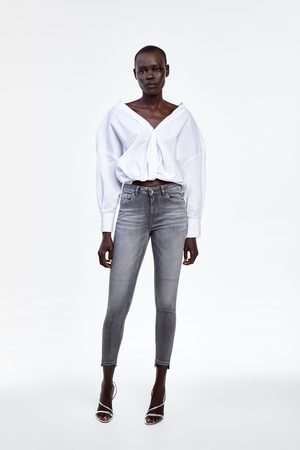 Zara Jeans z1975 mid rise skinny aberturas