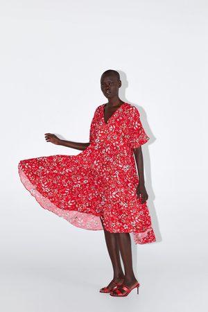 Zara Vestido midi estampado floral
