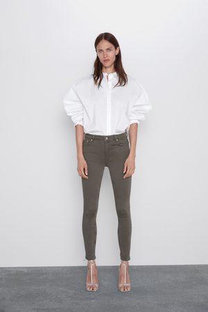 Zara Mujer Pitillos - Jeans zw premium skinny taupe