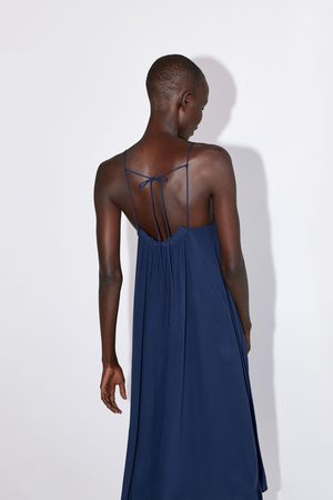 Zara Mujer Vestidos - Vestido lencero frunces