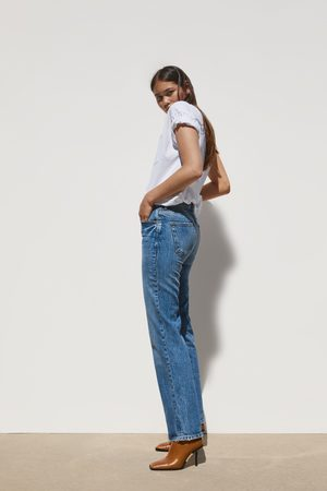Zara Mujer Cintura alta - Jeans zw premium bootcut true blue