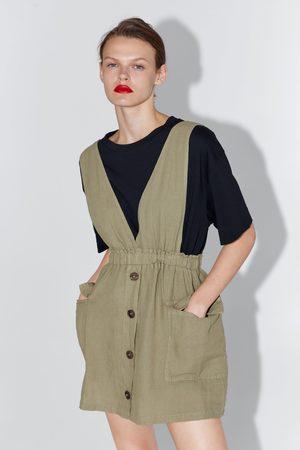 Zara Mujer Petos y pichis - Pichi bolsillos