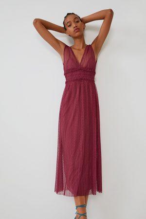 Zara Mujer Vestidos - Vestido plumeti