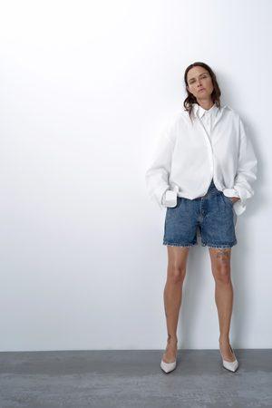 Zara Mujer Bermudas - Short 80's arizona blue