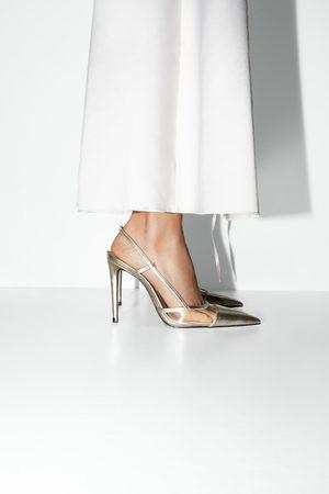 Zara Mujer Tacón - Zapato tacón destalonado vinilo
