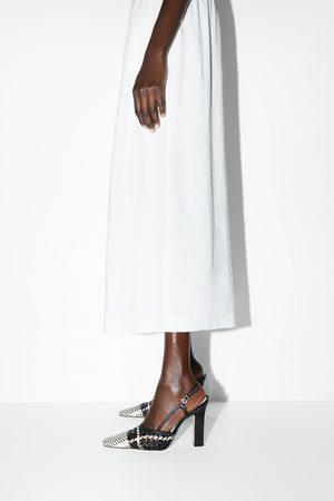 Zara Mujer Tacón - Zapato tacón trenzado