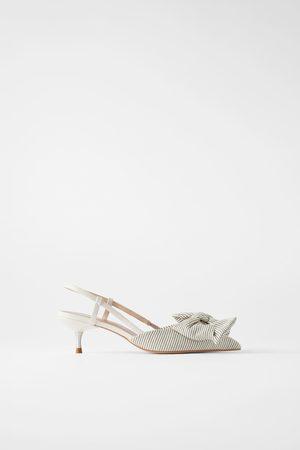 Zara Mujer Tacón - Zapato tacón kitten rayas lazo