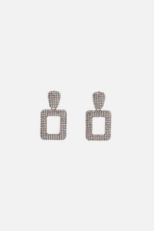 Zara Pendientes brillos geométricos