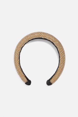 Zara Mujer Accesorios del pelo - Diadema acolchada brillo