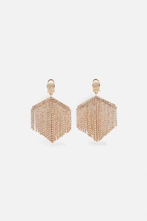 Zara Pendientes joya brillo