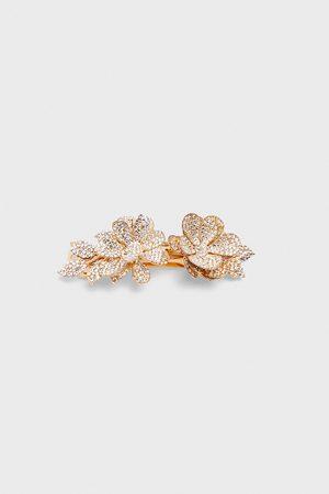Zara Mujer Bisutería - Pasador pelo flores brillos