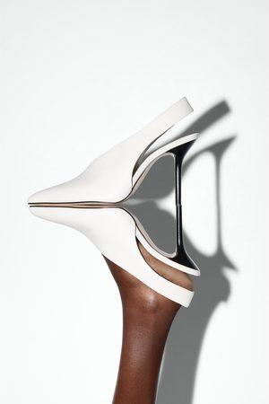 Zara Mujer Tacón - Zapato tacón piel destalonado