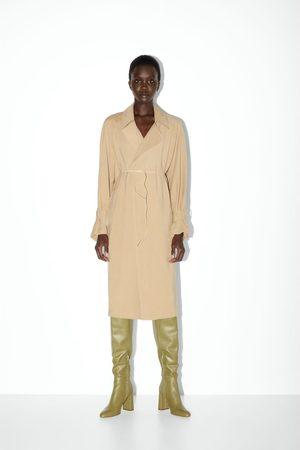 Zara Mujer Botas - Bota tacón piel caña alta