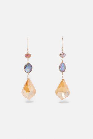 Zara Mujer Pendientes - Pendientes perla irisada