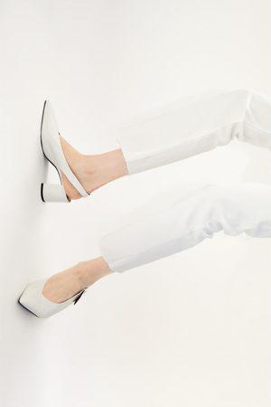 Zara Mujer Tacón - Zapato tacón destalonado estampado animal