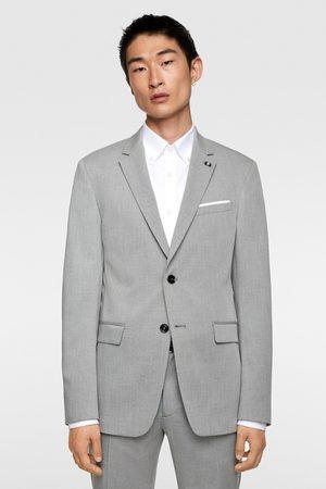 Zara Hombre Blazers - Blazer conjunto cinzato comfort