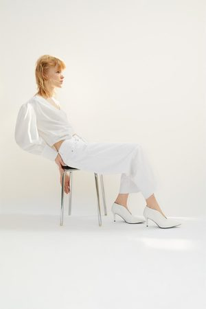 Zara Mujer Botines - Botín tacón escote