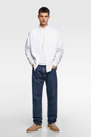 Zara Hombre Vaqueras - Camisa denim básica