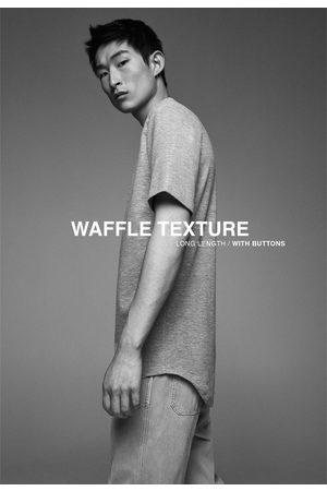 Zara Hombre Camisetas - Camiseta estructura waffle botones