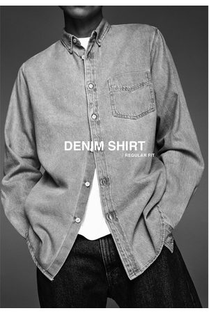 Zara Camisa denim básica