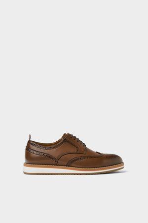 Zara Hombre Zapatillas deportivas - Zapato sport picados marrón