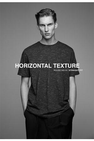 Zara Hombre Camisetas - Camiseta estructura horizontal