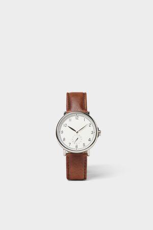Zara Reloj look vintage pulsera piel marrón