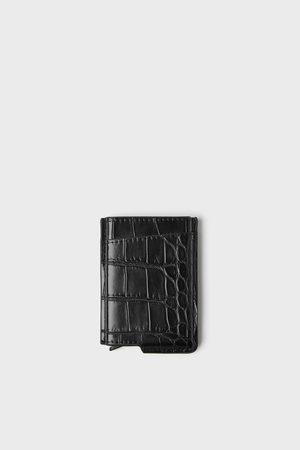 Zara Hombre Carteras y monederos - Tarjetero funcional grabado