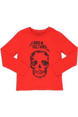Zadig & Voltaire   Niño Camiseta De Algodón Jersey Con Mangas Largas 12a