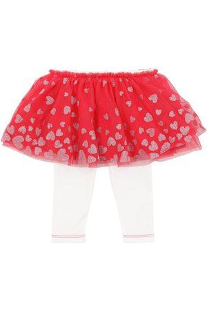 Billieblush | Niña Falda De Tul Glitter Con Leggings De Jersey /blanco 6m