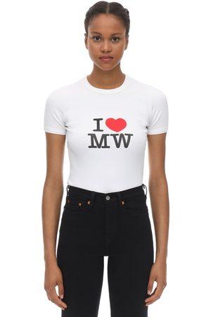 Vetements Camiseta De Algodón Jersey Estampada