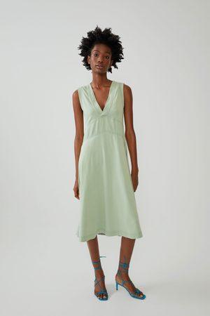 Zara Mujer Vestidos - Vestido efecto lavado
