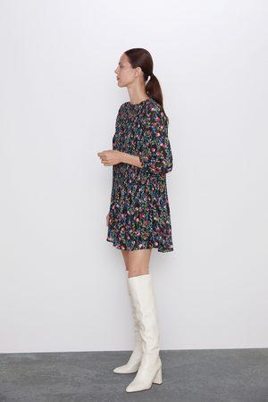 Zara Mujer Estampados - Vestido estampado plisado