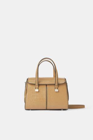 Zara Mujer Bolsos shopper y tote - Bolso mini shopper estampado animal