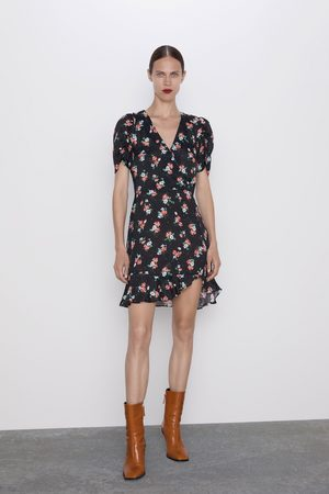 Zara Mujer Estampados - Vestido estampado volante