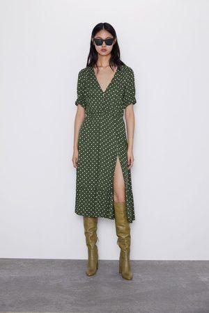 Zara Mujer Estampados - Vestido estampado lunares abertura