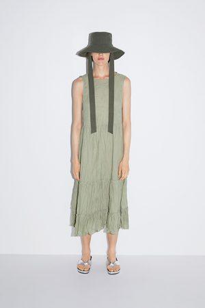 Zara Mujer Vestidos - Vestido efecto arrugado
