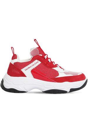 """Calvin Klein   Mujer Sneakers """"maya"""" De Malla Y Piel 50mm /rojo 40"""