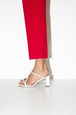 Zara Mujer Tacón - Mule tacón tiras asimétricas