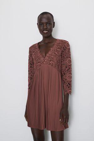 talla 40 estilo de moda de 2019 ofertas exclusivas Vestido combinado encaje
